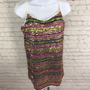 NWT Molly Green Sequin Strappy Party Dress Sz S